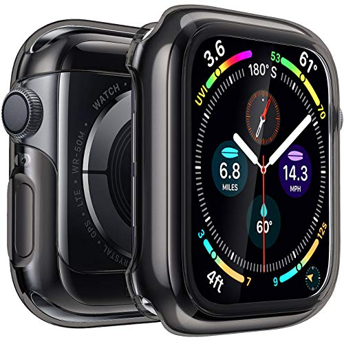 Penom Case for Apple Watch Screen Protector Series 3 2 1 42mm, Ultra Thin iWatch 42mm Screen Protector with Full Protection TPU Cover (Black, 42mm)