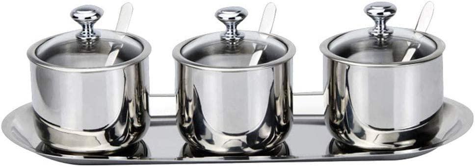 Stainless Steel Seasoning Jars Ranking TOP10 with Spring new work 3 and Glass Spoons Sp Cover