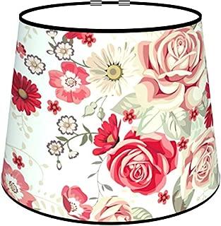 Glass Conical 7111308196487Rachel Floor Lamp, Fabric/PVC, Multi Print