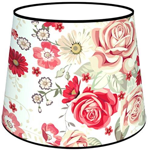 Abat-jours 7111308196487 Conique Imprimé Rachel Lampadaire, Tissus/PVC, Multicolore