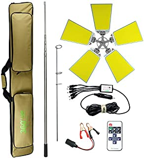 Conpex Outdoor Telescopic Camping Rod Floodlight 120W 12000LM, New Technologic COB Lamp with Fishing Rod Perfect for Campi...