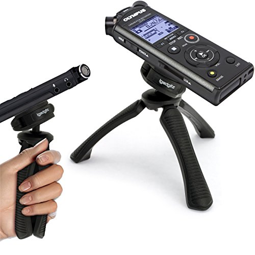 igadgitz U6622 PT310 Kompaktes Dreibeiniges Mini Tischstativ und Griff Stabilisator Kompatibel mit Olympus LS P1 LS P2 LS 3 LS 12 LS 14 LS 100 Voice Recorder