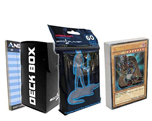 Andycards Mazzo Deck Yugi Il Ritorno - Mazzo Yugioh YSYR in Italiano + 60 Bustine Protettive God-Player + Deck Box + Segnapunti