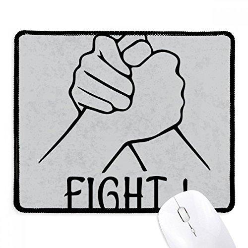 Wrist worstelen gepersonaliseerd gebaar anti-slip muismat spel office zwart gestikte randen gift