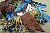 HHH Designs Franja de cuero con retales de flecos para bolsos, chaquetas u otros accesorios