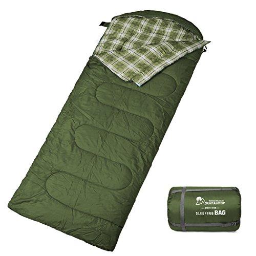 MOUNTAINTOP Schlafsack, Ultraleicht mit kleinstem Packmaß Reiseschlafsack Sommerschlafsack leicht Deckenschlafsack A-Grün