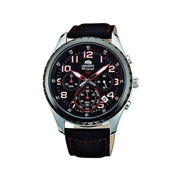 Orient Reloj Cronógrafo para Hombre de Cuarzo con Correa en Cuero FKV01003B0