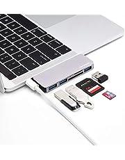 USB C ハブ 5-IN-1 USB C ハブ 3つUSB 3.0 ポート SD/Micro SD カードリーダー Type C ハブ アダプタ MacBook/MacBook Pro/Macbook Air/DELL/ASUS/Huawei/Microsoft Surface 等対応
