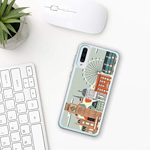 Big Ben Hülle Samsung Galaxy Case A10 A20 A30 A40 A50 A70 M10 M20 M30 2019 Plastik Silikon phone case Stadt london Glockenspiele Uhr Glocke Turm