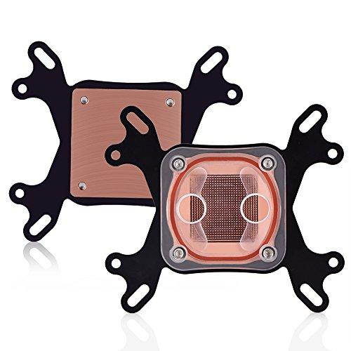 Diyeeni Universal CPU Kühler Wasserkühler für Intel 775/1150/1155,1366 AMD AM2/AM3/AM3+, PC Wasserblock CPU Water Block G1/4 Gewinde, 50x50mm Kupfer Basis, inkl. Montagematerial