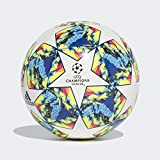 adidas Finale 19 CPT Ballons Match Football pour Hommes, Top:White/Bright Cyan/Solar Yellow/Shock Pink Bottom:Collegiate Royal/Black/Solar Orange, 5