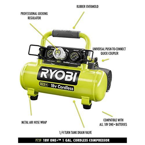Ryobi 18-Volt ONE+ Cordless 1 Gal. Portable Air Compressor (Tool Only)