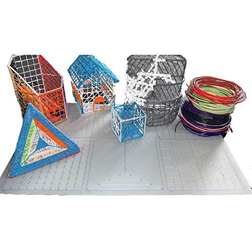 Terzsl Tablero de Dibujo de Silicona con bolígrafo 3D para niños u2019s Juguetes intelectuales, Tablero de Copia de Almohadilla de Silicona con bolígrafo de impresión 3D