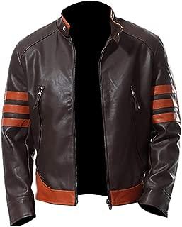 KAAZEE Men's Biker Jacket Slim Fit Real Leather Biker Retro Jacket