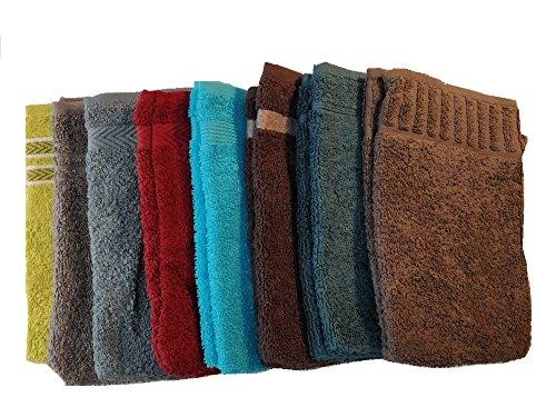 Vandenhove Linge De Maison Lot de Gants de Toilette 100% Coton Fabrication Belge Haut de Gamme Couleurs et Designs Assorties (Lot de 20)