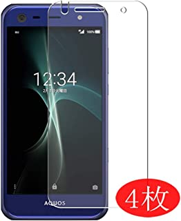 【4 Pack】 Synvy Screen Protector for au AQUOS Serie Mini SHV38 / SoftBank AQUOS Xx3 Mini Sharp TPU Flexible HD Clear Case-Friendly Film Protective Protectors [Not Tempered Glass] Updated Version