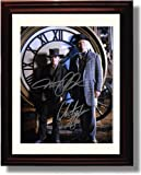 Framed Michael J Fox and Christopher Lloyd Autograph Replica Print - Back to The Future