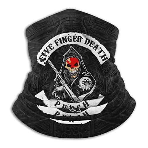 Five Finger Death Punch Fashion Face Cover Bandanas Neck Gaiter Face Scarf Bandanas For Outdoor Sports