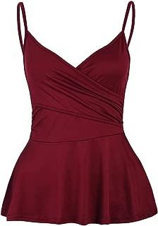 iYBUIA Women's Basic Cotton Camisole Shelf Bra Layering Cami Tank Tops 7 Colors