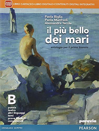 Kit libro scolastico PIU' BELLO DEI MARI B(9788839526281) 1 copertine trasparenti cavalierini ed evidenziatore