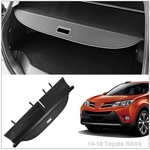 Black Cargo Cover replacement for 2014-2018 Rav4 Retractable Security Cover
