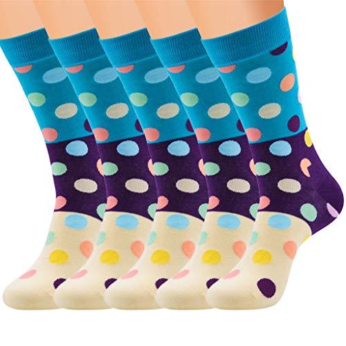 ZZBO 5 Paar extra weiche bunte Socken. Krankenschwestern, Laufen, Reisen, Komfortmischung für Herren und Damen. Stilvolle kniehohe Designs. Mehrfarbiger niedlicher gemusterter Druck