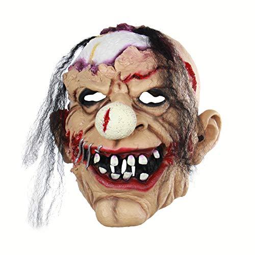 Halloween Latex Maske Beängstigend Zombie Clown 3D Neuheit Gruselig Teufel Kostüm Partei Cosplay Requisiten Rollenspiel Spielzeug