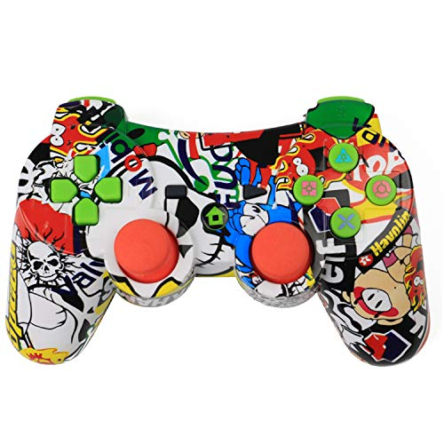 Vococal Manette pour PS3,Manette de Jeu sans Fil avec Double Vibration pour PS3 Playstation, Manette Contrôleur Joystick de Jeux sans Fil Game Controleur Gamepad pour PS3 Playstation 3