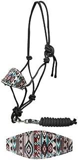 Showman Bronc Style Nylon Rope Halter w/ Navajo Print Noseband