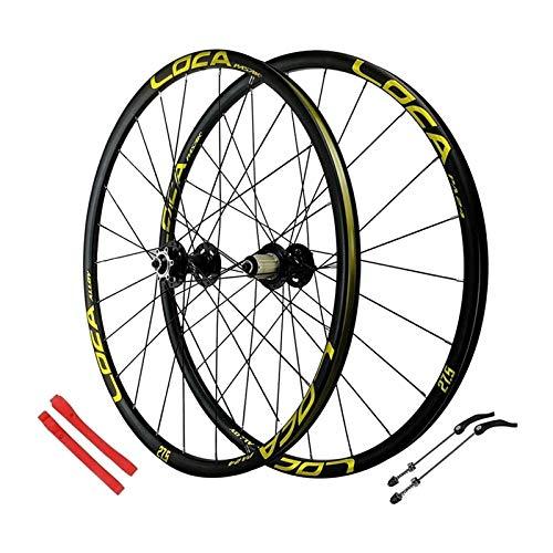 YOOXI Juego de Ruedas de Bicicleta de Montaña de 26/27,5 Pulgadas, Freno de Disco de Rueda de Bicicleta MTB de Doble Pared 24 Horas para 7-11 Velocidades (Color : 26inch)