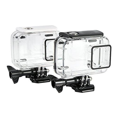 Caja de la Carcasa de la cámara, Cubierta de la cámara, Cubierta de la Caja de la cámara submarina de 45 m, para cámara Deportiva Xiaomi Yi 2 4k(White)
