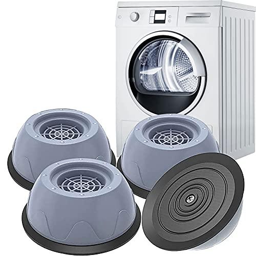 Antivibrationsmatte Waschmaschine, Super Stoßfestes Waschmaschinenunterlage Schallschutzmatte, Geruchlose Gummifüße Schwingungsdämpfer Antirutschmatte Gummimatte für Gefrierschrank Klein/Trockner