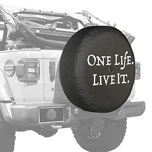 Boomerang - 32' Soft JL Tire Cover for Jeep Wrangler JL (with Back-up Camera) - Sport & Sahara (2018-2020) - One Life Live It
