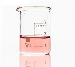 Laboratory مجموعة دورق الزجاج للمختبرات الكيمياء واضحة مقياس مختبر كبار البورسيليكات زجاجي مقاومة للحرارة (حزمة من 4 / لو...