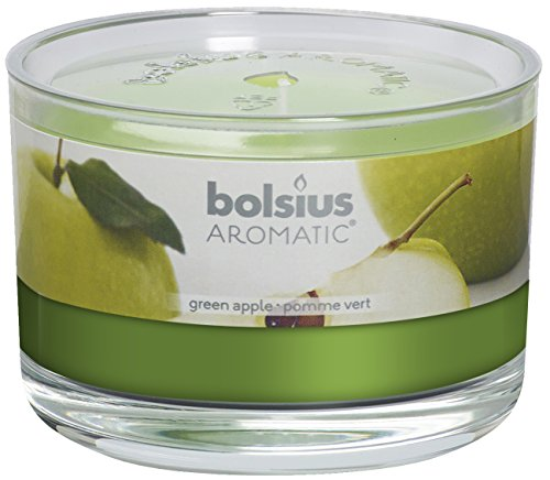 Bolsius Verde Apple Vaso con Vela aromática