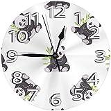 LTBWFDC Reloj Redondo con Pilas Digital clásico de los Osos de Tailandia para la Escuela del Ministerio del Interior