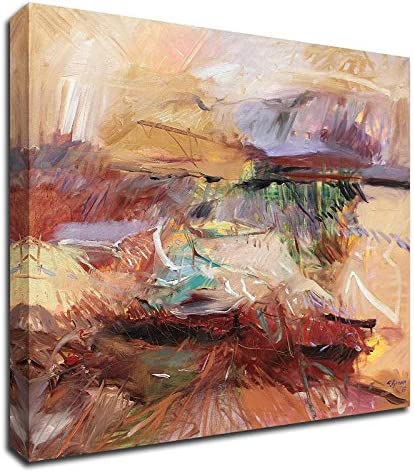 Amazon Com Tangletown Fine Art 20 X 24 Afternoon In The Desert By Simona Gocan Print On Canvas Posters Prints