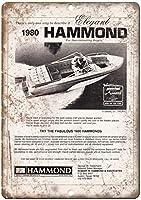 ハモンドボート 金属板ブリキ看板警告サイン注意サイン表示パネル情報サイン金属安全サイン