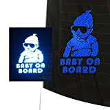 customTAYLOR33 Baby on Board High Intensity Grade Reflective Safety Sticker Decal - Carlos Baby Hangover - Many Colors for Girl or Boy - Cars, Vans, Trucks, etc, (Blue)