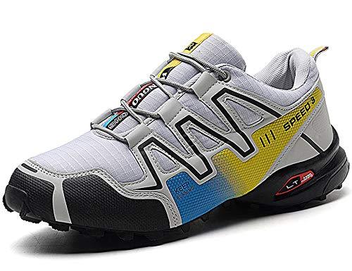 GNEDIAE Herren KR-4 Low-top wanderschuh,Flut Schuhe Weiß 41 EU