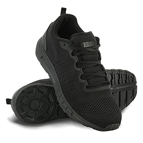 M-Tac Breathable Mesh Sneakers Sport Training Shoes (Black, 11.5 US)