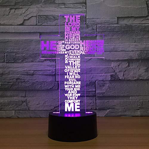 Croix veilleuses produits électroniques kiosques créatifs Usb Led 3d lampe Nouveauté cadeaux pour salon chambre 3d lumières