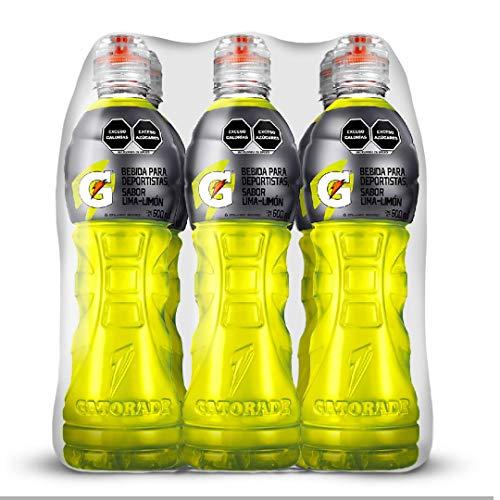 Gatorade Válvula sabor Lima Limón de 600 mililitros cada uno. 6 Pack