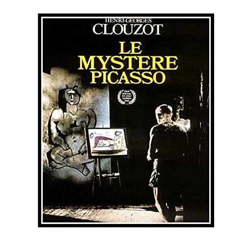IUYTRF El misterio de Picasso Henri-Georges Clouzot Francia película Vintage francesa película cartel decorativo pared -50X70 cm sin marco 1 Uds