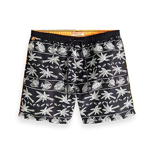 Scotch & Soda Herren Classic Swimshort with Summer All-Over Print Shorts, Mehrfarbig (Combo D 0220), Large (Herstellergröße: L)