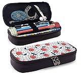 XCNGG Estuche para lápices neceser Berries PU Leather Pencil Case School Office Use Zipper Stationery Organizer