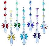 Crystalsuncatcher Juego de 7 piezas de cristal de ángel de la guarda del arco iris de la colección Suncather