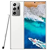 Android smartphone Note20U+, US version of 10-core 6.9-inch waterdrop screen, resolution 1440 3088, signal 5G, 12 + 512GB, 18MP + 48MP battery 5000mah, stylus, facial recognition ( Color : White )