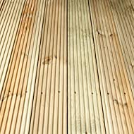Profiled deck board Ideal for creating the perfect decking area for your garden Ridged surface finish. Pressure Treated timber with a 15 year Anti-Rot guarantee Some of our items are bulky and you will need to clear space in your garden ready for del...