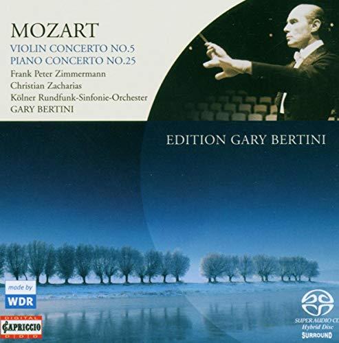 モーツァルト:ヴァイオリン協奏曲第5番/ピアノ協奏曲第25番(ベルティーニ・エディション 3)